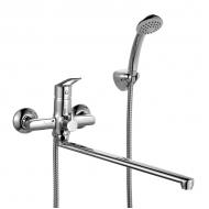 Смеситель для ванны с длинным изливом с керамическим дивертором, Amur, Milardo,
