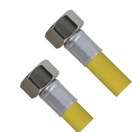 Шланг для газа с PVC покрытием 80 см 1/2Fx1/2F TIM C-GP26-8