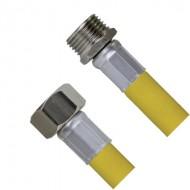 Шланг для газа с PVC покрытием 150 см 1/2Fx1/2M TIM C-GP27-15