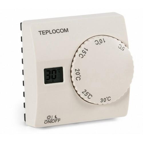 Термостат комнатный TEPLOCOM TS-2AA/8A проводной